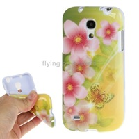 Butterflies over Flowers Pattern TPU Case for Samsung Galaxy S 4 mini / i9190 Free Shipping
