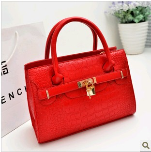 New arrival 2013 women's bag women's handbag platinum color block small lock decoration handbag messenger bag female bags