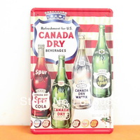 [ Do it ] CANADA DRY Metal tin signs House Restaurant  Metal painting MIX ORDER 20*30 CM A-78 Free shipping