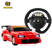 Steering wheel remote control car super large remote control car charge sensor remote control automobile race toy car