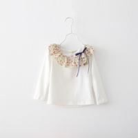 Children's clothing 2013 100% autumn cotton ruffle collar turn-down collar female child basic shirt child long-sleeve T-shirt