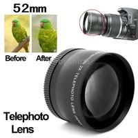 Brand New 2X 52mm Professional Metal Material Telephoto Lens for Nikon Coolpix D40/ D60/ D70s/ D3000/ D3100/ D5000