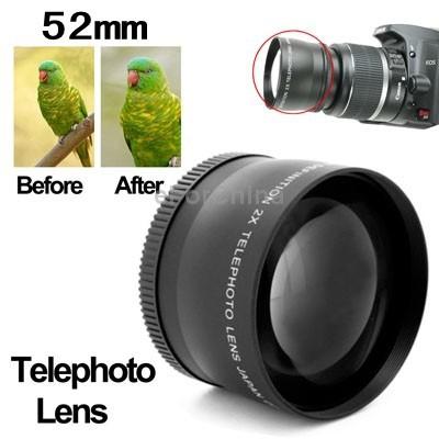 Brand New 2X 52mm Professional Metal Material Telephoto Lens for Nikon Coolpix D40/ D60/ D70s/ D3000/ D3100/ D5000(China (Mainland))