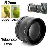 Brand New 2X 52mm Professional Metal Material Telephoto Lens for Nikon Coolpix D40/ D60/ D70s/ D3000/ D3100/ D5000