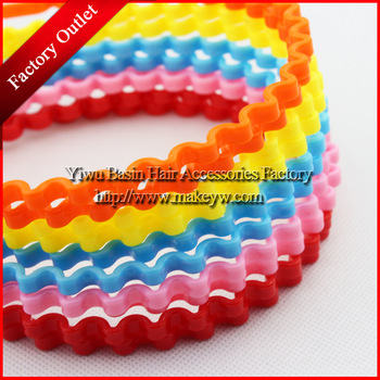 Free shipping 20pcs/lot Wholesale/Retail Plastic hairbands for girls and women Candy color hairband Korean style hair decoration