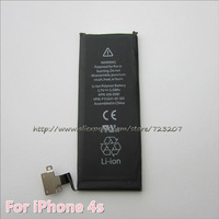 10pcs/lot Cell phone battery for iPhone 4S Free shipping