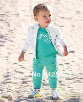 Retail 2013 Kid Clothes spring/autumn wear Baby set kids suit 3pc/set(Coat+T Shirt+Pant) Children Suit free shipping
