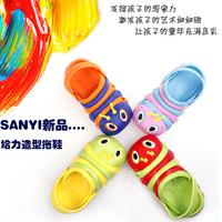 2013 summer children's clothing cartoon caterpillar child baby child male female child style slippers sandals 6056