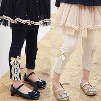2013 autumn children's clothing bow baby child female child legging long trousers 5688