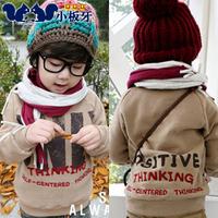 2013 autumn children's clothing doodle letter print baby male child fleece sweatshirt child outerwear 5110