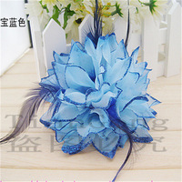Wholesale Statistics (400 pieces/lot) wedding Head flower feather Crochet headdress hair jewelry simulation hair accessory