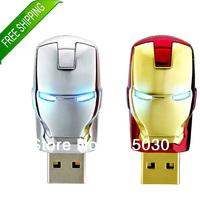 2013 New Iron Man LED USB Flash Drive 2GB 4GB 8gb 16gb 32gb U Disk USB Flash Drive USB2.0 Avengers Free Shipping