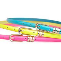 Free Shipping Dora women's thin all-match belt female candy color fashion neon color ol small strap  factory wholesale