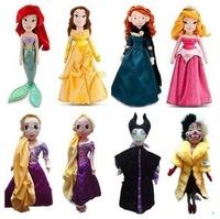 Genuine  princess stuffed  dolls, large size,54cm,Rapunzel/ Mermaid/ Sleeping Beauty/Brave/Periwinkle,dolls for girls