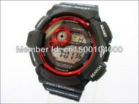 Hot selling! free shipping Fashion digital shining silicone  g 9300 watch can mix color  shocked 9300 watch