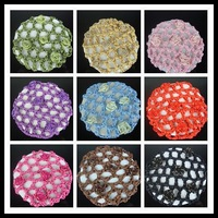 1PC Bun Cover Snood Hair Net Ballet Dance Skating Crochet 9 Color For Choose // Free Shipping