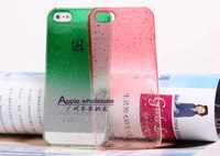 Mobile case, Plastic material, Gradient Water Drop Style, Multicolors, Compatible for Iphone 5, Free shipping