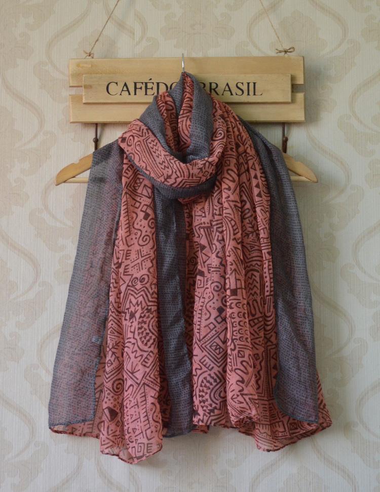 2013 nuovo autunno-inverno ladies' viscosa sciarpa, spedizione gratuita, lungo donne scialle, geometria stampa, stile nazionale, lungo hijab, avvolge la testa