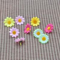 Wholesale 4cm Small Chrysanthemum Simulation Artificial Silk Flowers Head For Wedding Decoration DIY Free Shipping(100pcs/lot)