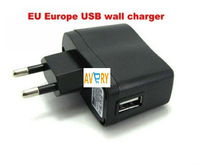 USB AC Power Supply Wall Adapter Adaptor MP3 Charger EU Plug MP3 MP4 Black free shipping china post