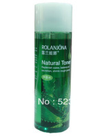 2pcs/lot (Natural Toner) free shipping No Additive aloe vera skin toner moisturizing face lotion 215ml
