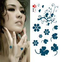 Waterproof temporary tattoo stickers with Clover Body Paint 10pcs free shipping