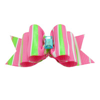Handmade Accessories Pets Grooming Colored Stripes Ribbon Hair Bow  Dog Rubber Bands Dog Hair Bows.
