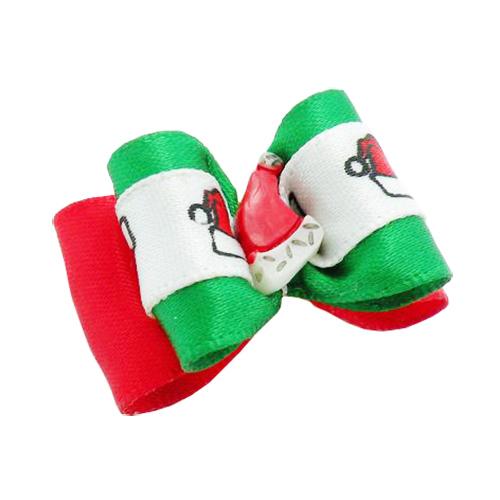 dreambows 25025 Handmade Dogs Accessories Grooming Christmas Plastic Cap Ribbon Hair Bow Bichon Frise Pet Bows.(China (Mainland))