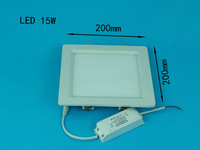 15W LED ceiling recessed grid downlight / square panel light 200mm 1pc/lot