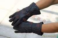 Men's thickening version of motorcycle thermal gloves genuine leather gloves winter thermal