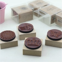 Vintage wool rubber stamp inkpad set 4