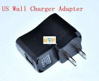 USB AC Power Supply Wall Adapter Adaptor MP3 Charger US Plug MP3 MP4 Black free shipping china post