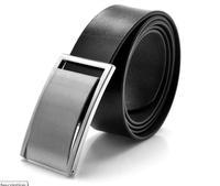 Modern fashion cowhide belt brief elegant black belt formal commercial male strap