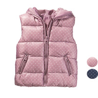 Children's clothing original exported girls female child polka dot winter clip cotton parent-child vest waistcoat  outerwear