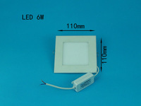6W LED ceiling recessed grid downlight / square panel light 110mm