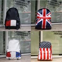FS 2014 new fashion flag bag France / USA / UK /printing zipper  Backpacks school bags for girls