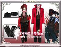 Black Butler Kuroshitsuji Grell Sutcliff cosplay costume Full set