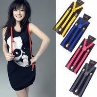 Sonkiss all-match suspenders general suspenders solid color fine y suspenders