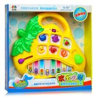 3c strawberry cartoon puzzle keyboard baby piano toy violin 8806 - 1