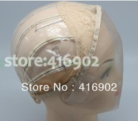 lace wig caps  with adjustable straps for making lace front human hair wigs black brown blonde color selectable