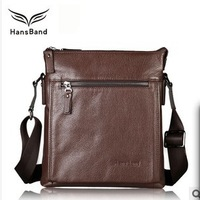 HansBand, 2013 New Arrival Genuine Leather Messenger Men Bag, Business Casual Male Shoulder Bag, Fashion Cowhide Man Bag, MMB002
