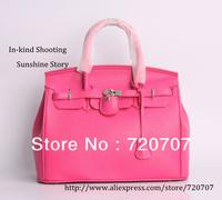 2013 Autumn New!!free shipping women's fashion lock handbag Lichee Pattern leather bag Business bag handbag casual bag for women