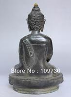 bir 00531 Rare Old Collectable Tibet Pure bronze Buddhism Buddha Sakyamuni Buddha Statue