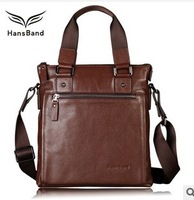 HansBand, 2013 New Arrival  Business Casual Men Messenger Bag, Genuine Leather Male Shoulder Bag,Fashion Cowhide HandBag, MMB003