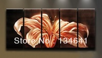 free shipping 5 pieces Modern Landscape Painting Spring Impression Abstract Canvas Home & Wall Decor(no frame),flower paiting