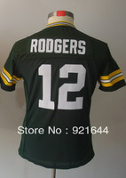 Free Shipping -#12 Aaron Rodgers Women's Game Team Green Football Jersey