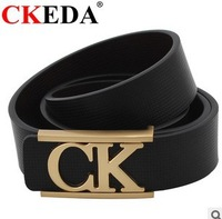 Men's leather casual fashion belt buckle all-match smooth business  Bag mail