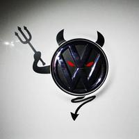 Volkswagen vw bora polo lavida  emblem classic demon car stickers