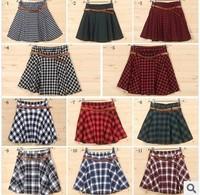 Preppy Style Brithish Style School Uniform Plaid Pleated Skirt Short Skirt Bust Skirt Set Cloth for Woman