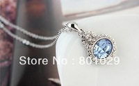 Austria   crystal   alloy women necklace wholesales 2013 free shipping